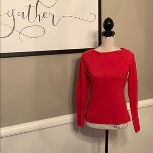 Red 100% Cashmere Sweater